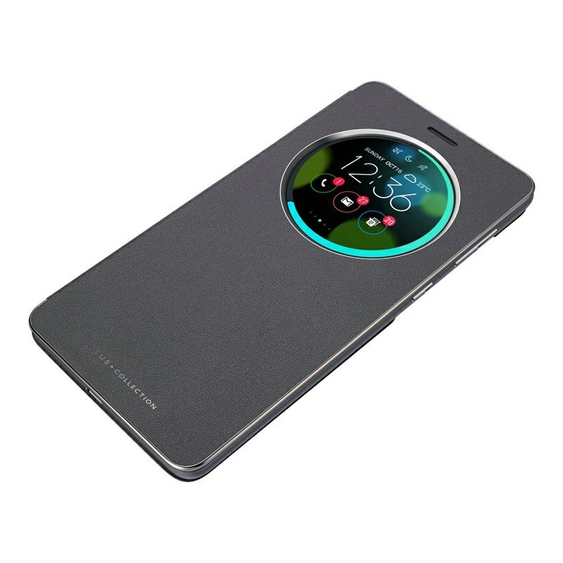 【ASUS華碩】ZenFone 3 Deluxe ZS570KL 原廠5.7吋智慧透視皮套 現貨 全新-沉穩黑