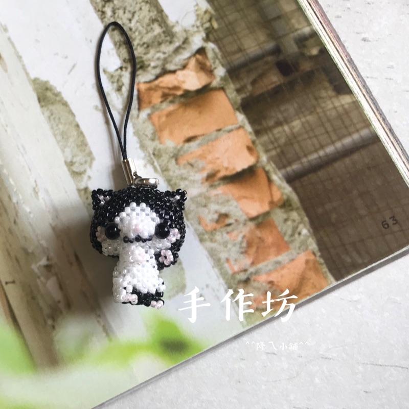 手作坊 Cat-黑賓士 串珠手作吊飾