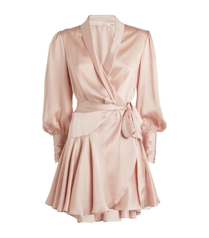 Zimmermann Silk Wrap-Around Mini Dress