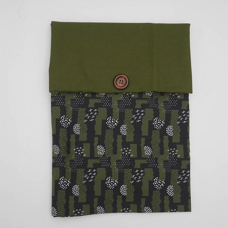 筆電內袋-墨綠卡哩卡哩(軍綠蓋)