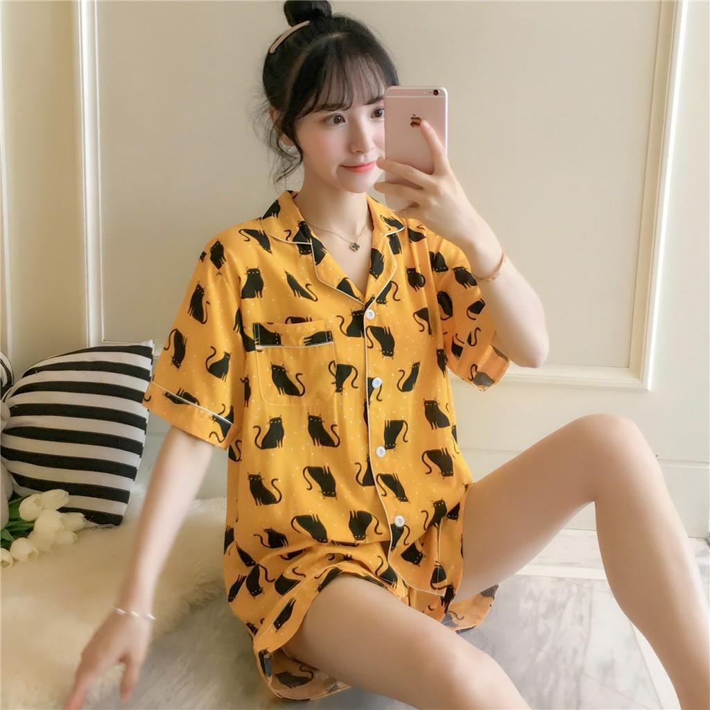 睡衣正常發貨 棉綢睡衣女士夏季套裝短袖長褲可愛薄款短褲綿綢春秋家居服兩件套