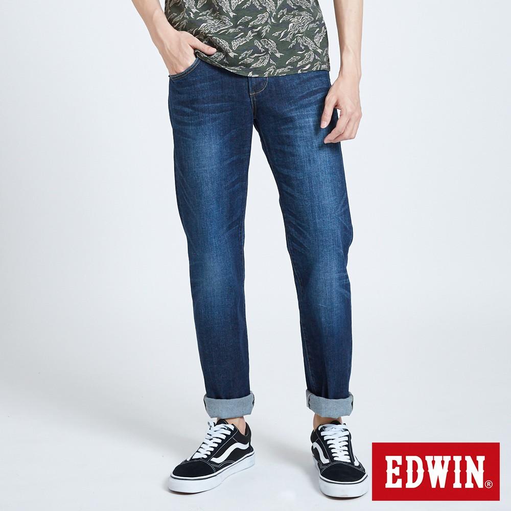 EDWIN 503 基本五袋中直筒牛仔褲(酵洗藍)-男款