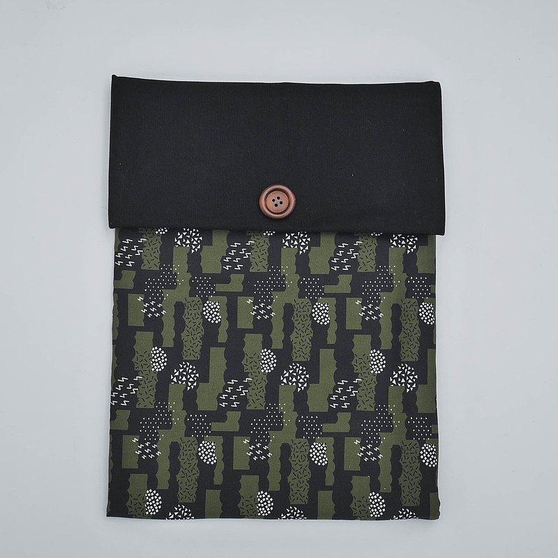 筆電內袋-墨綠卡哩卡哩(黑蓋)