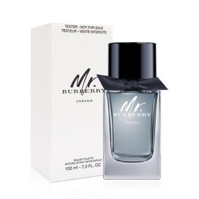 BURBERRY Mr.BURBERRY INDIGO湛藍時光男性淡香水100ml Tester(環保盒/有蓋)