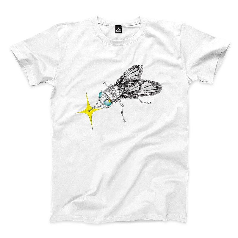 Fly - 單色版 - 白 - 中性版T恤