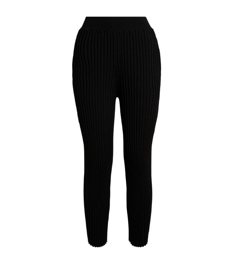 Stella Mccartney Ribbed Relaxed Trousers