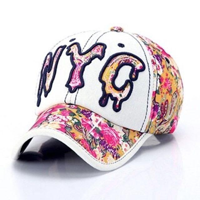 牛仔帽防曬棒球帽-夏季花布字母刺繡情人節生日禮物女帽子73da14【巴黎精品】