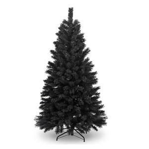 摩達客 台灣製4尺時尚豪華版黑色聖誕樹裸樹(不含飾品不含燈)