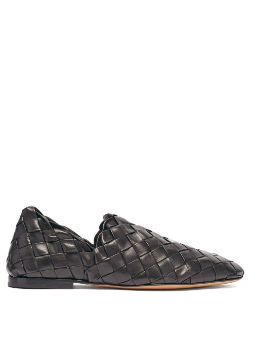 Bottega Veneta - The Slipper Intrecciato Leather Loafers - Mens - Black