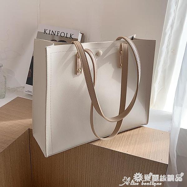 托特包 秋冬上新女士大包包2021流行新款潮時尚簡約大容量百搭側背托特包 愛麗絲