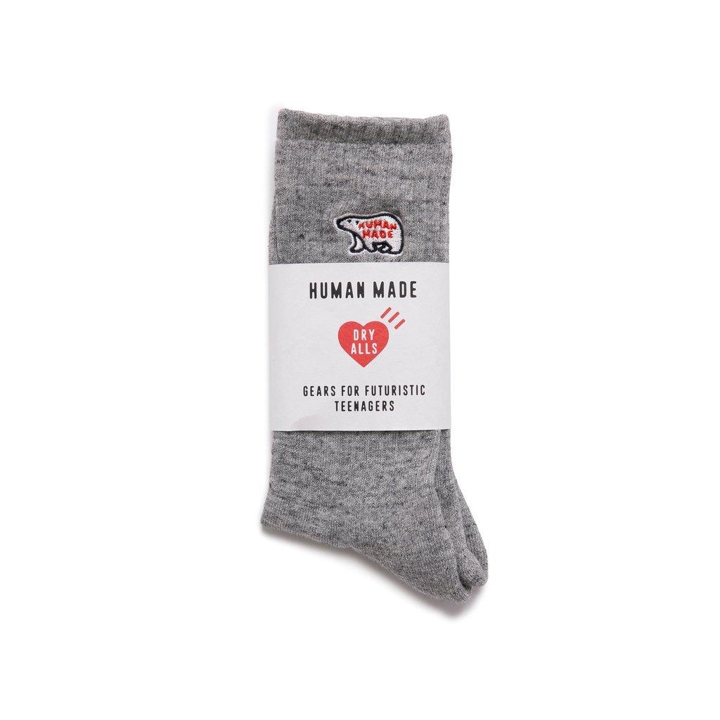 HUMAN MADE - POLAR BEAR PILE SOCKS 中筒襪 / 小腿襪 (灰色)