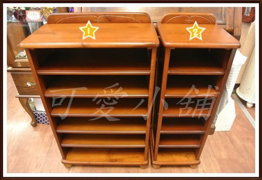 台中 可愛小舖 鄉村風實木雕刻六層鞋架 大 鞋櫃 玄關 耐用 穩固 台灣