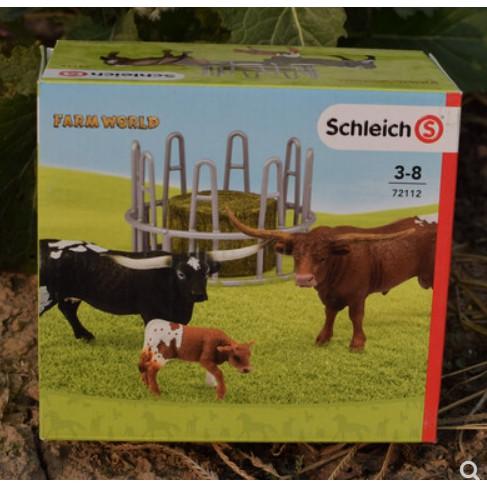 思乐72112德克萨斯场角牛围栏骑士牛仔仿真场景动物模型玩具2019