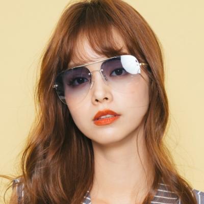 ALEGANT韓系天空藍漸層金框雷朋飛官款墨鏡│UV400太陽眼鏡│提爾的天穹之境