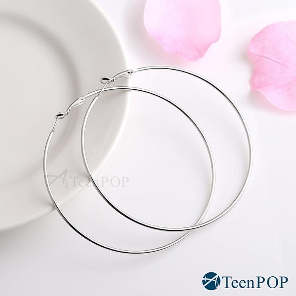 耳環 ATeenPOP 正白K 簡約女孩 圓圈耳環 多色多尺寸任選 圓環耳環 大圈圈耳環