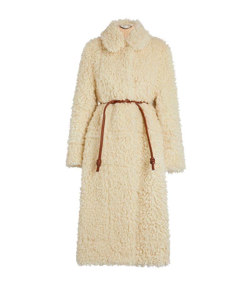 Stella Mccartney Belted Teddy Coat