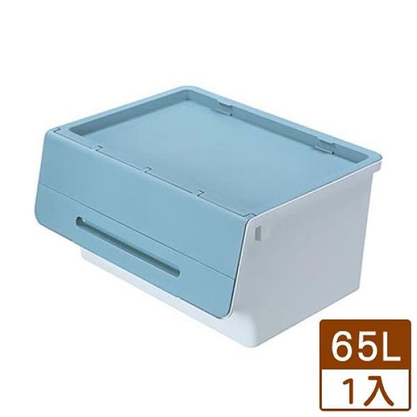 KEYWAY 鄉村直取式整理箱HB65-1-藍(65L)【愛買】