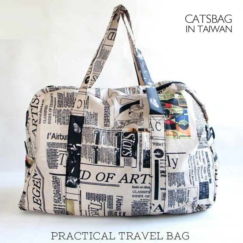 catsbag|報紙 國旗輕巧超大容量二用包可套拉桿旅行袋|107730326