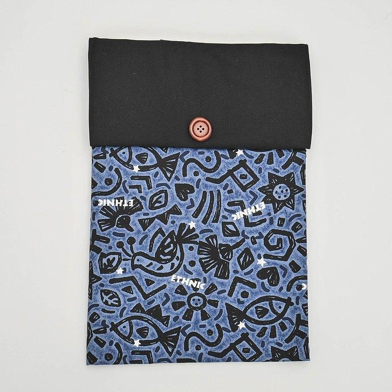 筆電內袋-深藍石壁(黑蓋)