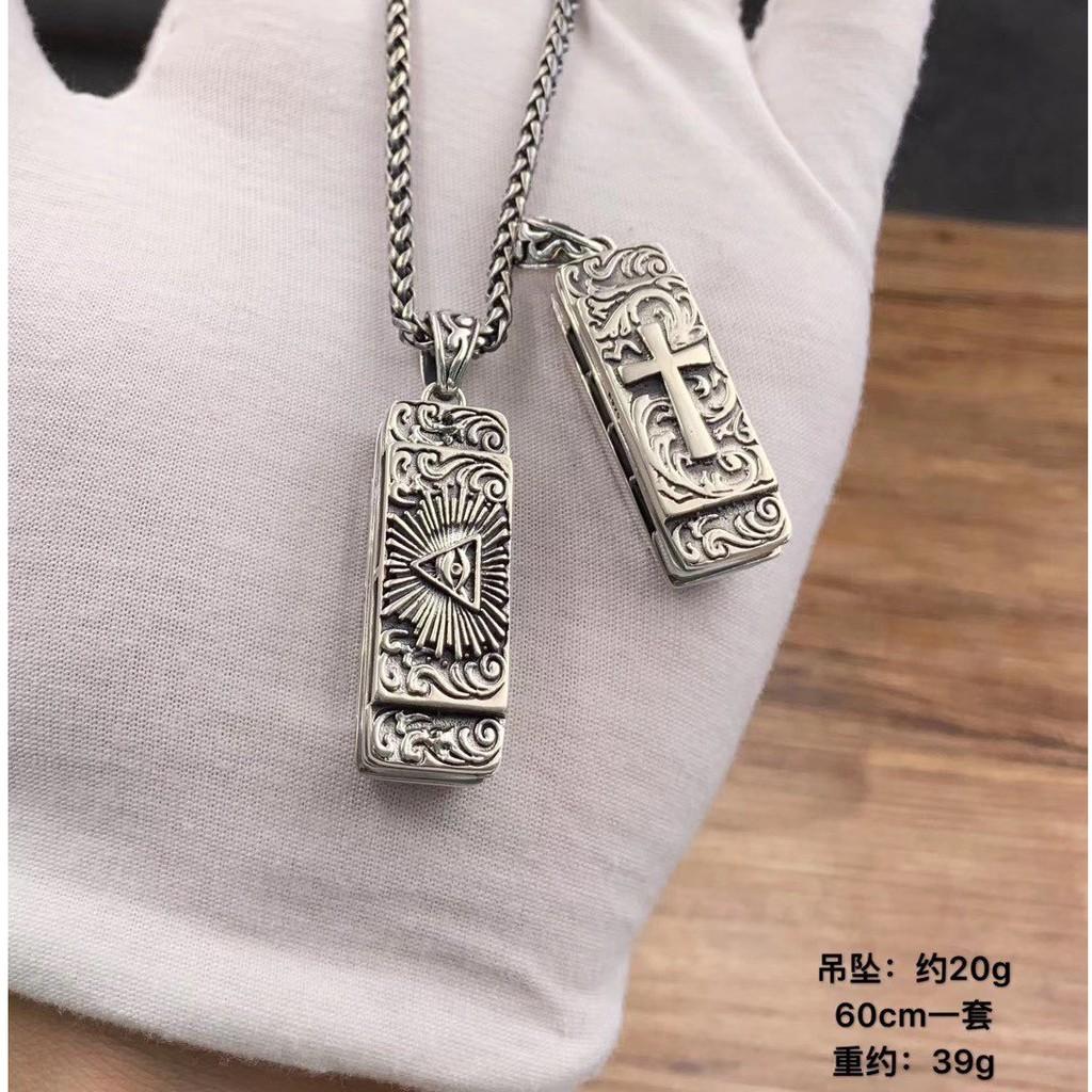 【大銀家】純銀925精工打造 荷鲁斯之眼 口琴(可吹响)十字架 个性 挂坠 男女同款 廠家直銷,一手貨源,精品現貨