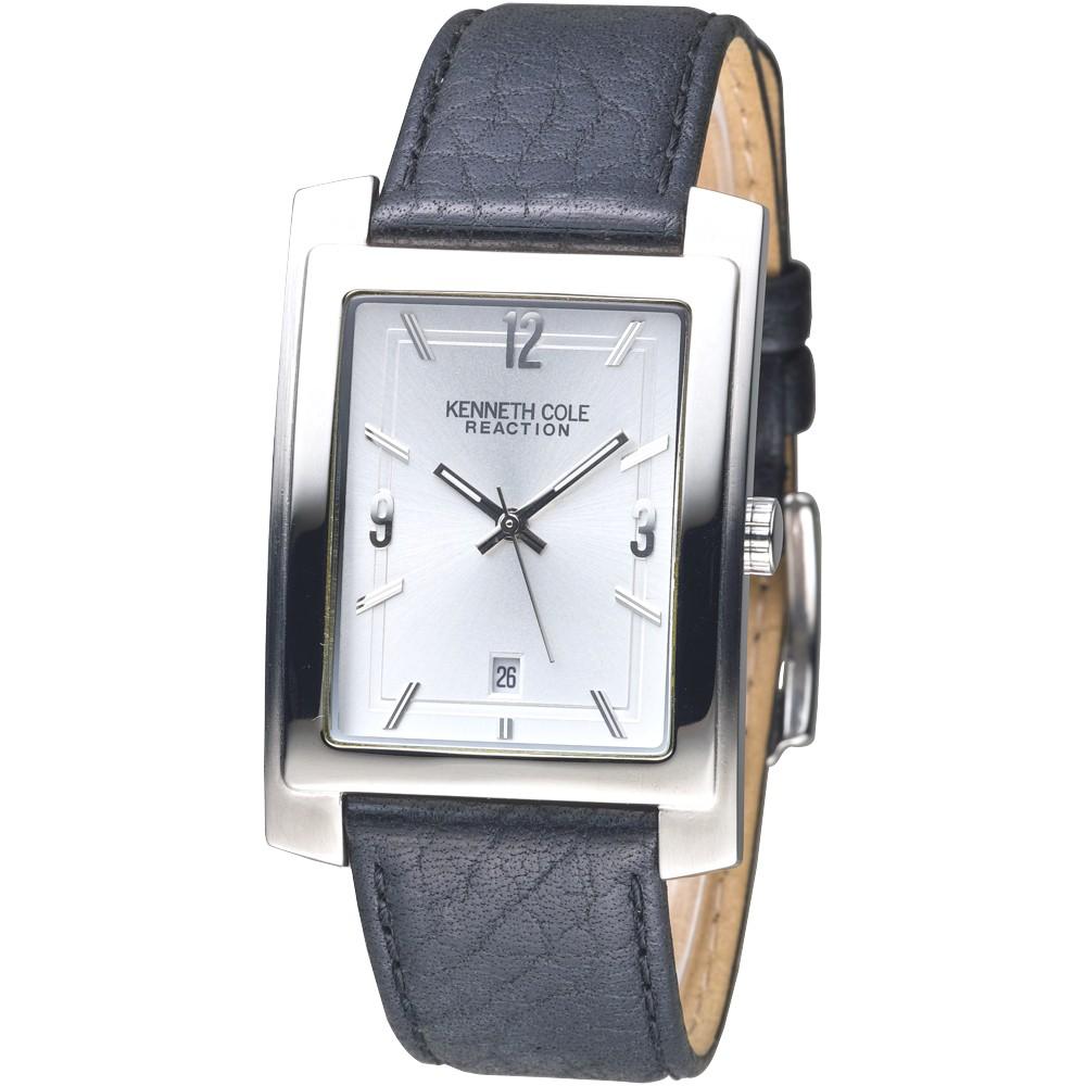 KENNETH COLE 手錶 KC1348 城市一隅時尚男錶-銀面/黑帶 保固一年 廠商直送