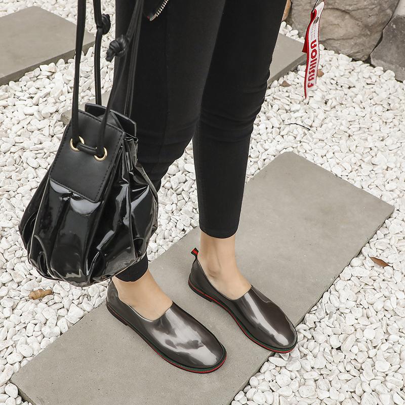 豆豆鞋 女鞋 舒適 防滑 軟面 單鞋 小皮鞋 春款 平底 休閒鞋 懶人鞋 一腳蹬 軟底 時尚 ins超火 潮鞋 輕質