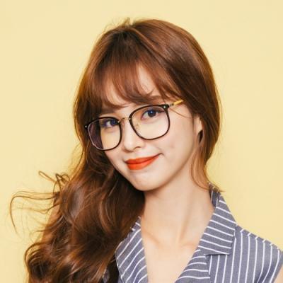 ALEGANT質感復古設計杏仁棕方框UV400濾藍光眼鏡