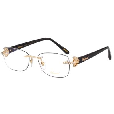 Chopard 水鑽 光學眼鏡(槍配金)VCHC01S