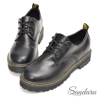 山打努SANDARU-樂福鞋 重量感皮革厚底馬丁鞋