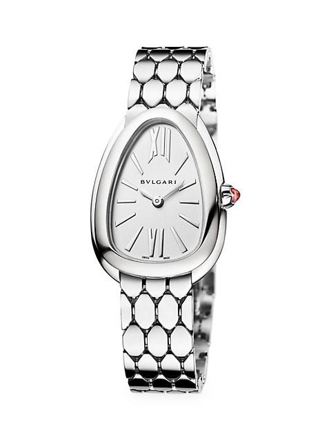 Serpenti Seduttori Stainless Steel Bracelet Watch