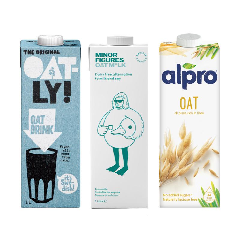 [大師級燕麥奶] OATLY 原味燕麥奶 & 小人物 咖啡大師 燕麥奶 & ALPRO 原味燕麥奶 (1L*各1瓶)(全素)
