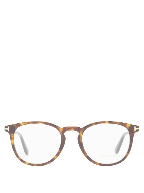 Tom Ford Eyewear - Round Tortoiseshell-acetate Glasses - Mens - Brown