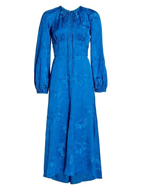 Lottie Satin Midi Dress