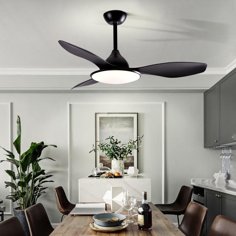 【110V】北歐吊扇燈風扇燈現代簡約客廳餐廳家用吊扇臥室靜音變頻風扇吊燈