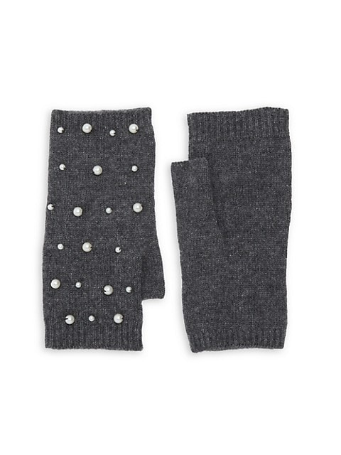 Mini Faux Pearl Scatter Fingerless Gloves