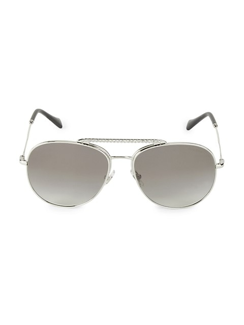 57MM Embellished Aviator Sunglasses