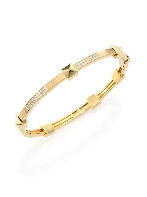 Pyramide Diamond & 18K Yellow Gold Boheme Oval Bangle Bracelet