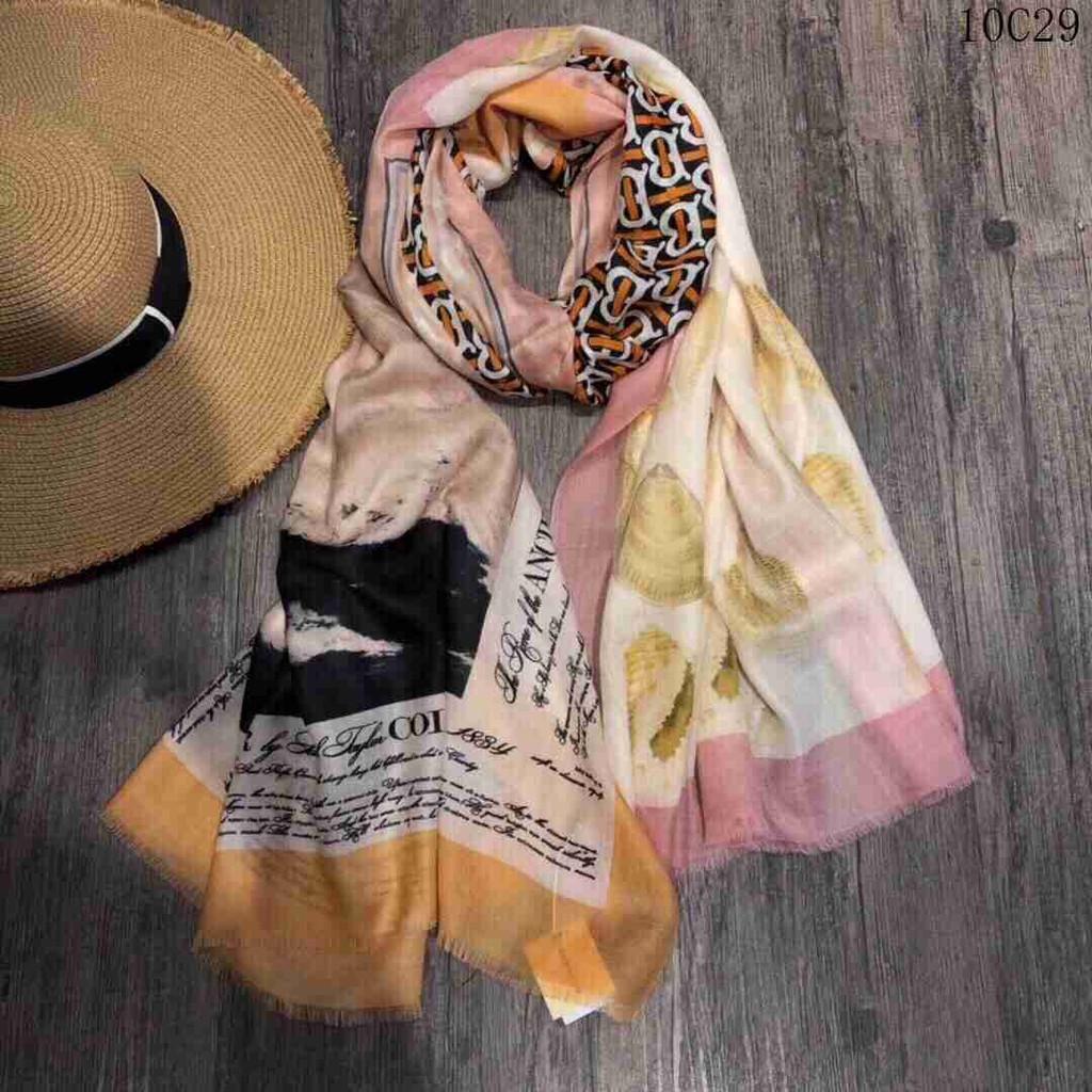 Burberry 巴寶莉 2020新款意大利精紡圍巾 雙層真絲 圍巾女 專櫃新品 精品女士絲 披肩