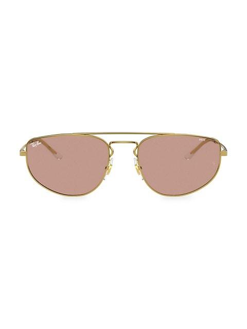 RB366855 55MM Rectangular Sunglasses