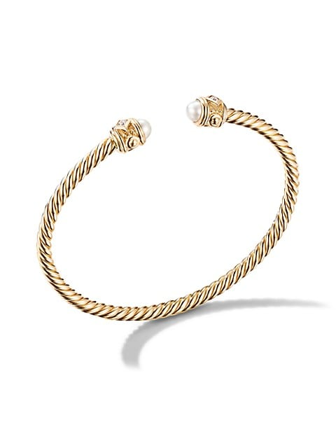 Renaissance Bracelet in 18K Yellow Gold With 4.25-4.75Mm Pearls & Diamonds