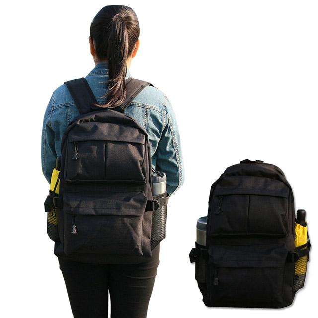 Yenzch 高級實用型雙肩後背包/黑/31x46x13cm (樂齡族推薦)
