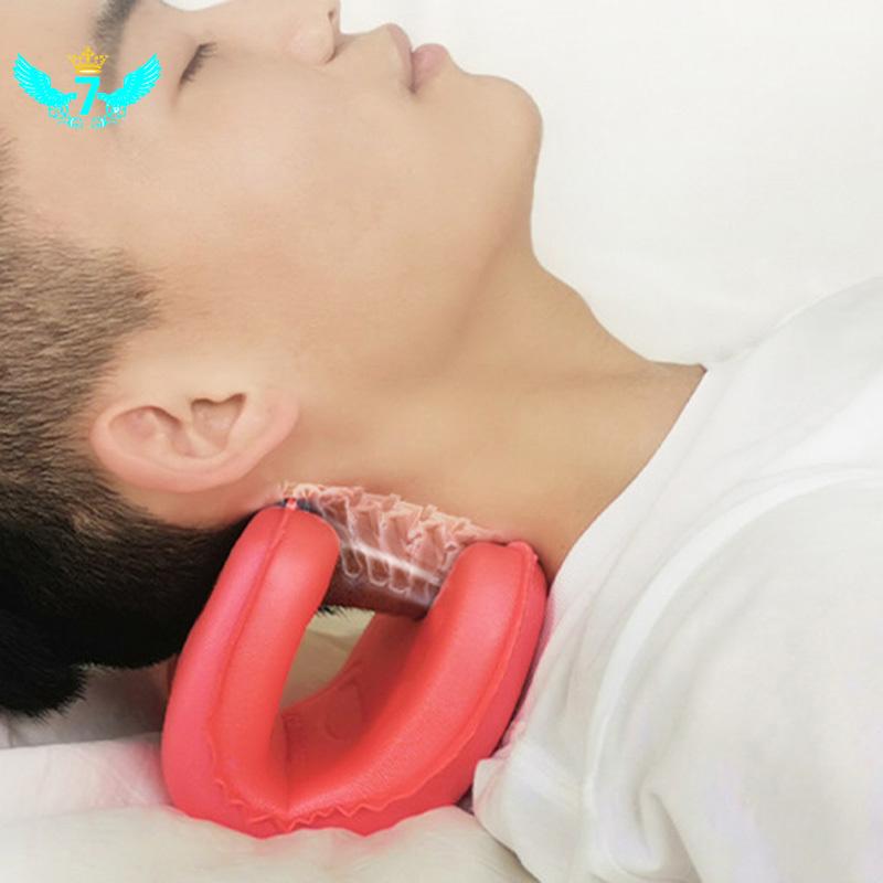 頸椎枕頭拉伸按摩器矯正器緩解頸椎疼痛輕巧便攜式頸枕WF