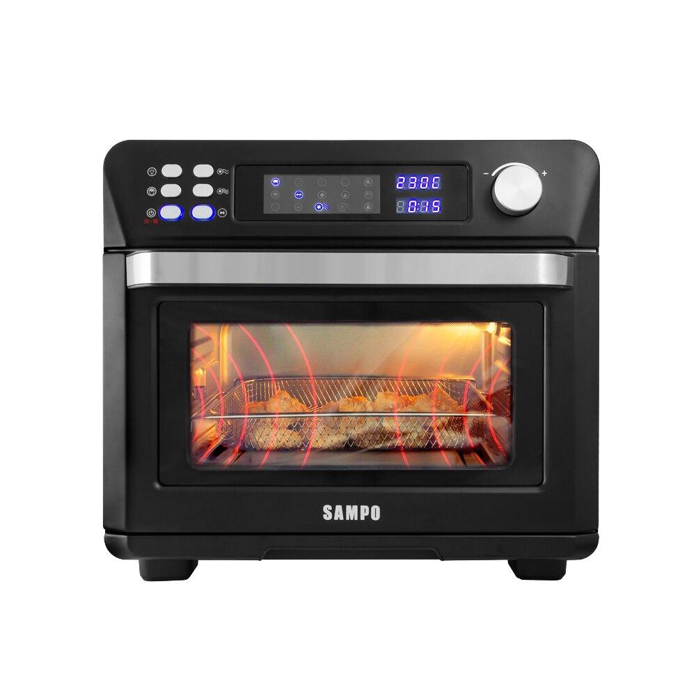 SAMPO聲寶 24L微電腦多功能氣炸烤箱【KZ-AA24B】(BMKZAA24B)