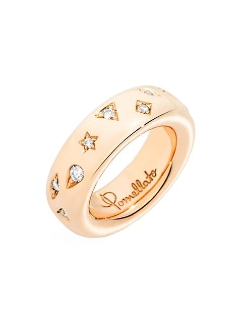 Iconica 18K Rose Gold & Diamond Ring