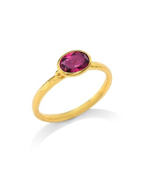 Delicate Hue Pink Tourmaline Stacking Ring
