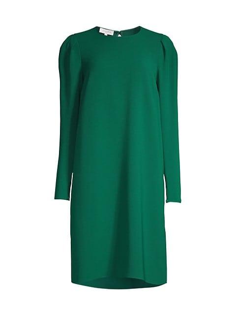 Gia Long-Sleeve Shift Dress