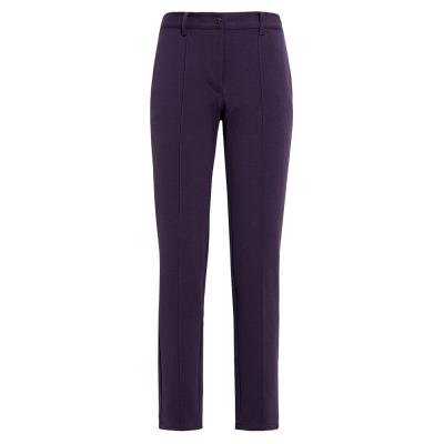 【hilltop山頂鳥】女款吸濕快乾合身版長褲H31FI4-深紫