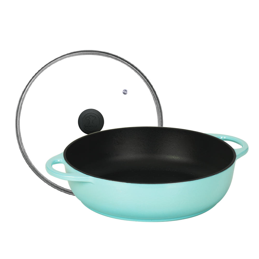 Multee摩堤 28cm鑄鐵多功能料理鍋