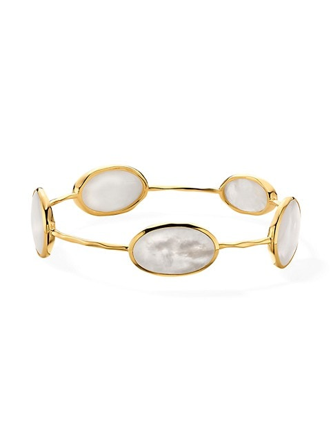Rock Candy® 18K Yellow Gold & Mother-Of-Pearl 5-Station Bangle Bracelet