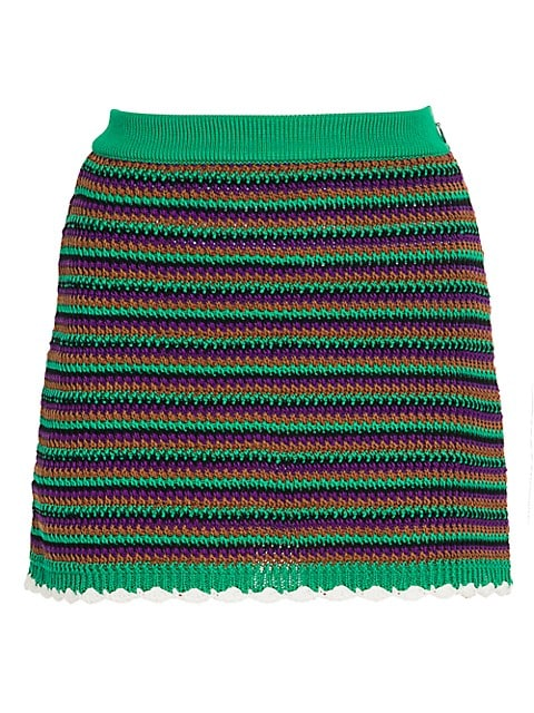 Crochet Wool Mini Skirt